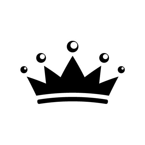 シンプルな王冠のイラスト素材