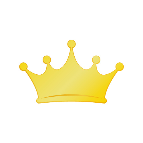 ゴールドの王冠イラスト