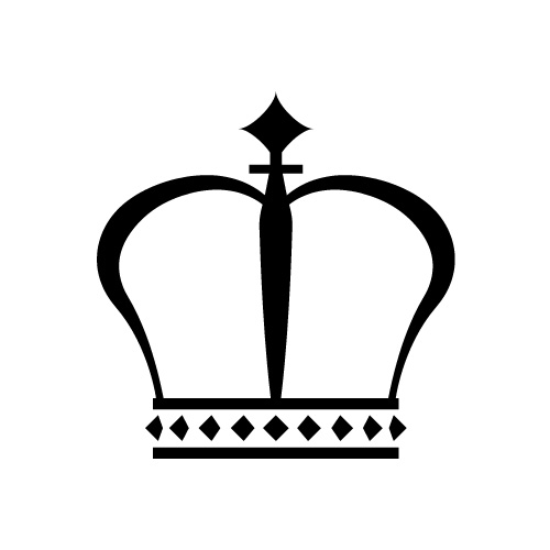 王冠シルエットのイラレ用epsイラスト素材