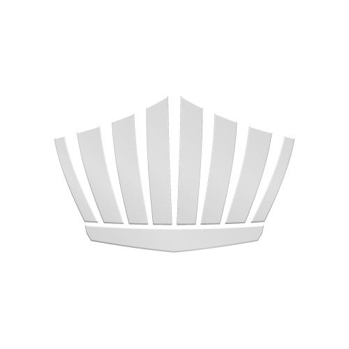 銀色の王冠シルエットのイラスト素材