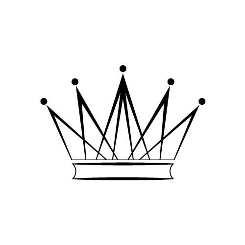 シャープなラインでできた王冠のシルエットイラスト