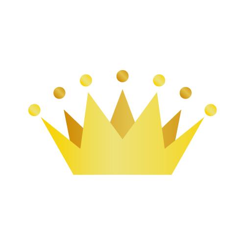 金色のシンプルな王冠フリー素材