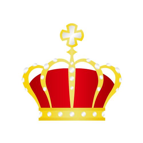 金と赤の王冠イラスト