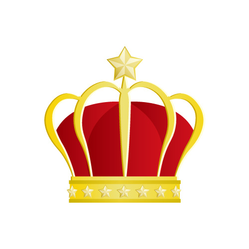 星の飾りが施された王冠のイラスト