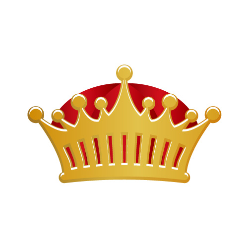 ゴールドの王冠イラスト素材