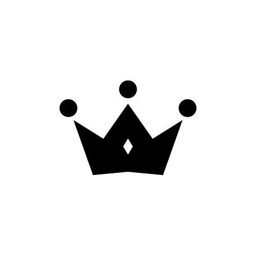 シンプルな王冠アイコン素材