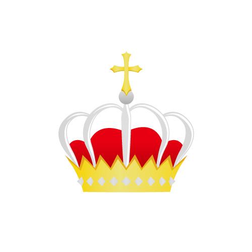 金銀赤の王冠イラスト素材