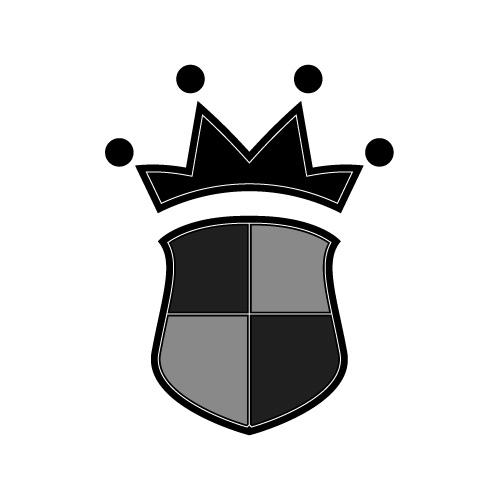 王冠とシールドのイラスト素材