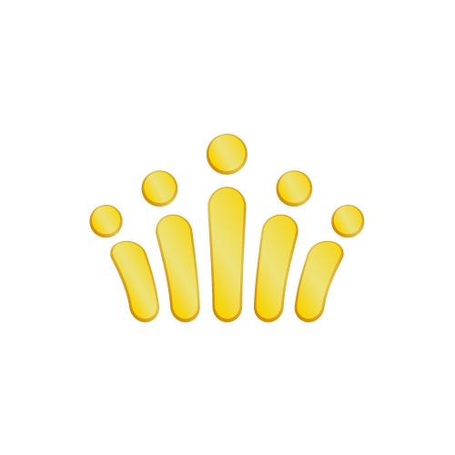 ゴールドの王冠アイコンイラスト