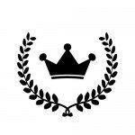 月桂冠と王冠のイラスト素材
