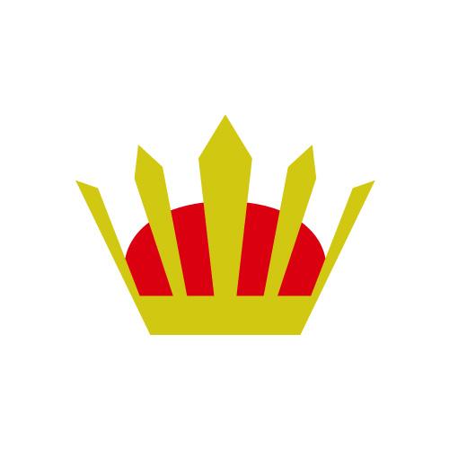 赤と銀の冠・兜アイコンイラスト