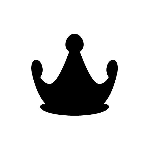 丸みの帯びた王冠のアイコンイラスト