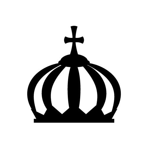 十字が飾られた王冠・クラウンアイコン
