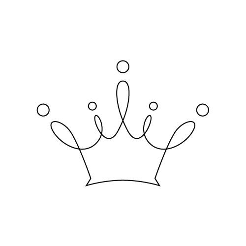 柔らかな王冠のイラスト