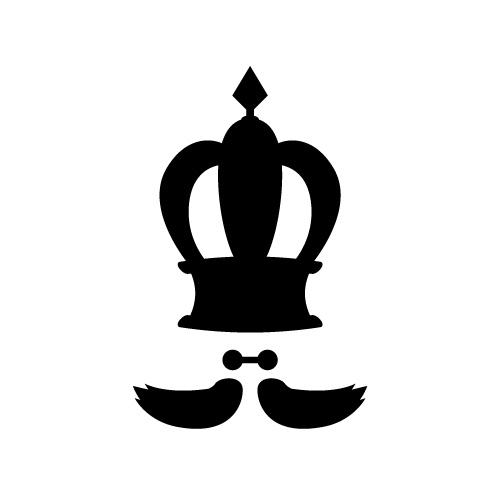 髭の入った王冠・クラウンのイラスト