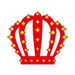 キラキラ光る赤い王冠・クラウン