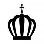 マドレーヌ風の王冠・クラウンイラスト