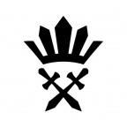 剣と王冠のアイコンイラスト